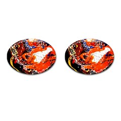 Smashed Butterfly 2 Cufflinks (oval) by bestdesignintheworld