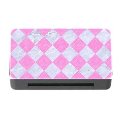 Square2 White Marble & Pink Colored Pencil Memory Card Reader With Cf by trendistuff
