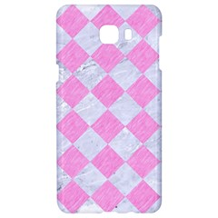 Square2 White Marble & Pink Colored Pencil Samsung C9 Pro Hardshell Case