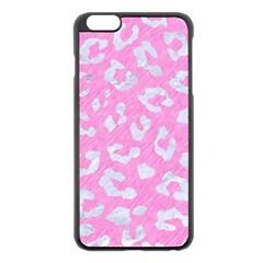 Skin5 White Marble & Pink Colored Pencil (r) Apple Iphone 6 Plus/6s Plus Black Enamel Case by trendistuff