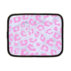 Skin5 White Marble & Pink Colored Pencil Netbook Case (small)  by trendistuff