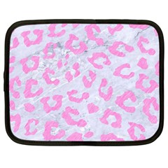 Skin5 White Marble & Pink Colored Pencil Netbook Case (xxl)