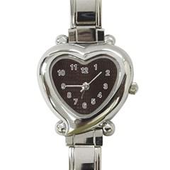 Gator Brown Leather Print Heart Italian Charm Watch by LoolyElzayat