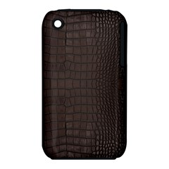 Gator Brown Leather Print Iphone 3s/3gs