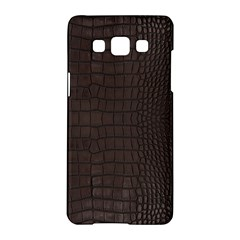 Gator Brown Leather Print Samsung Galaxy A5 Hardshell Case