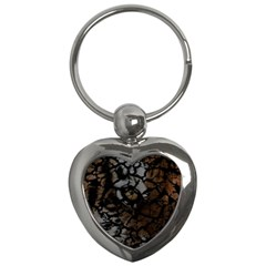 Earth Texture Tiger Shades Key Chains (heart)  by LoolyElzayat