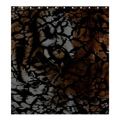 Earth Texture Tiger Shades Shower Curtain 66  X 72  (large)