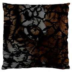 Earth Texture Tiger Shades Large Cushion Case (one Side)