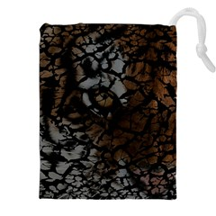 Earth Texture Tiger Shades Drawstring Pouches (xxl)