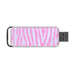 Skin4 White Marble & Pink Colored Pencil (r) Portable Usb Flash (one Side) by trendistuff