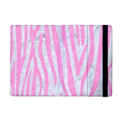 Skin4 White Marble & Pink Colored Pencil Apple Ipad Mini Flip Case by trendistuff