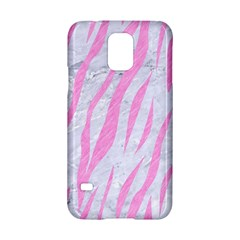 Skin3 White Marble & Pink Colored Pencil (r) Samsung Galaxy S5 Hardshell Case  by trendistuff