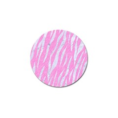 Skin3 White Marble & Pink Colored Pencil Golf Ball Marker (4 Pack) by trendistuff