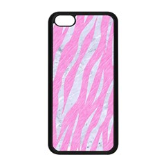 Skin3 White Marble & Pink Colored Pencil Apple Iphone 5c Seamless Case (black) by trendistuff