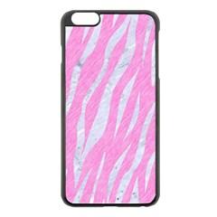 Skin3 White Marble & Pink Colored Pencil Apple Iphone 6 Plus/6s Plus Black Enamel Case by trendistuff