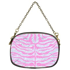 Skin2 White Marble & Pink Colored Pencil (r) Chain Purses (one Side)  by trendistuff