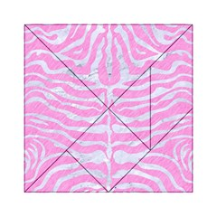 Skin2 White Marble & Pink Colored Pencil Acrylic Tangram Puzzle (6  X 6 ) by trendistuff
