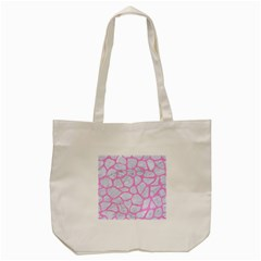 Skin1 White Marble & Pink Colored Pencil Tote Bag (cream) by trendistuff