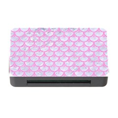 Scales3 White Marble & Pink Colored Pencil (r) Memory Card Reader With Cf by trendistuff