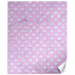 Scales2 White Marble & Pink Colored Pencil (r) Canvas 16  X 20   by trendistuff