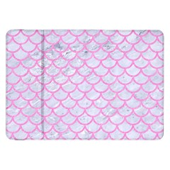 Scales1 White Marble & Pink Colored Pencil (r) Samsung Galaxy Tab 8 9  P7300 Flip Case