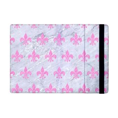Royal1 White Marble & Pink Colored Pencil Ipad Mini 2 Flip Cases by trendistuff