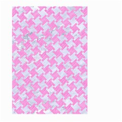 Houndstooth2 White Marble & Pink Colored Pencil Large Garden Flag (two Sides) by trendistuff