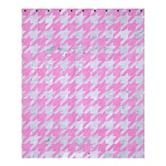 Houndstooth1 White Marble & Pink Colored Pencil Shower Curtain 60  X 72  (medium)  by trendistuff