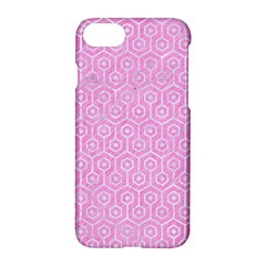 Hexagon1 White Marble & Pink Colored Pencil Apple Iphone 8 Hardshell Case