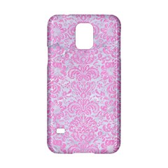 Damask2 White Marble & Pink Colored Pencil (r) Samsung Galaxy S5 Hardshell Case  by trendistuff