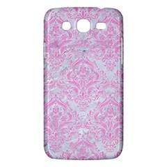 Damask1 White Marble & Pink Colored Pencil (r) Samsung Galaxy Mega 5 8 I9152 Hardshell Case  by trendistuff