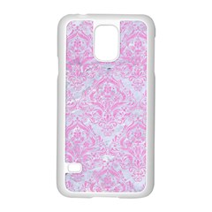 Damask1 White Marble & Pink Colored Pencil (r) Samsung Galaxy S5 Case (white)