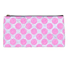 Circles2 White Marble & Pink Colored Pencil (r) Pencil Cases by trendistuff