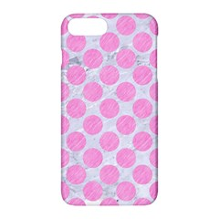 Circles2 White Marble & Pink Colored Pencil (r) Apple Iphone 7 Plus Hardshell Case by trendistuff