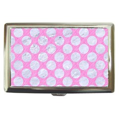 Circles2 White Marble & Pink Colored Pencil Cigarette Money Cases by trendistuff