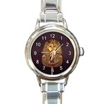 EGYPTIAN KING TUT ROUND ITALIAN CHARM WATCH
