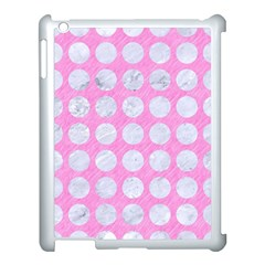 Circles1 White Marble & Pink Colored Pencil Apple Ipad 3/4 Case (white) by trendistuff