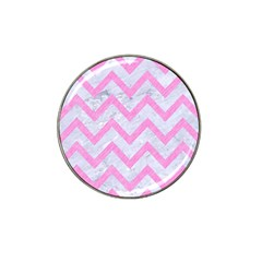 Chevron9 White Marble & Pink Colored Pencil (r) Hat Clip Ball Marker (10 Pack) by trendistuff