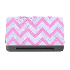 Chevron9 White Marble & Pink Colored Pencil (r) Memory Card Reader With Cf by trendistuff