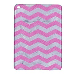 Chevron3 White Marble & Pink Colored Pencil Ipad Air 2 Hardshell Cases by trendistuff