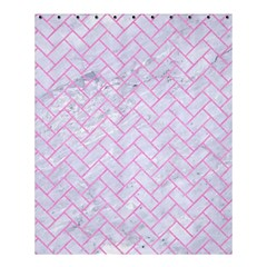 Brick2 White Marble & Pink Colored Pencil (r) Shower Curtain 60  X 72  (medium)  by trendistuff