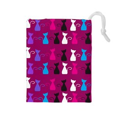 Cats Drawstring Pouches (large)  by luizavictorya72