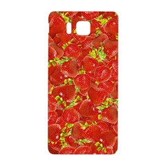 Strawberry Samsung Galaxy Alpha Hardshell Back Case by eyeconart