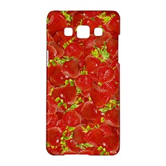 Strawberry Samsung Galaxy A5 Hardshell Case  by eyeconart