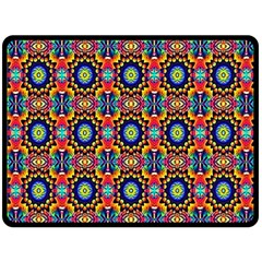 Artwork By Patrick Colorful 47 1 Double Sided Fleece Blanket (large)