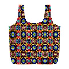 Artwork By Patrick Colorful 47 1 Full Print Recycle Bags (l)