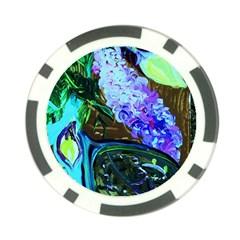 Lilac And Lillies 1 Poker Chip Card Guard by bestdesignintheworld