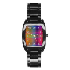 Colorful Sheet Stainless Steel Barrel Watch