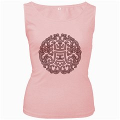 Chinese Traditional Pattern Women s Pink Tank Top
