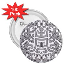 Chinese Traditional Pattern 2 25  Buttons (100 Pack)
